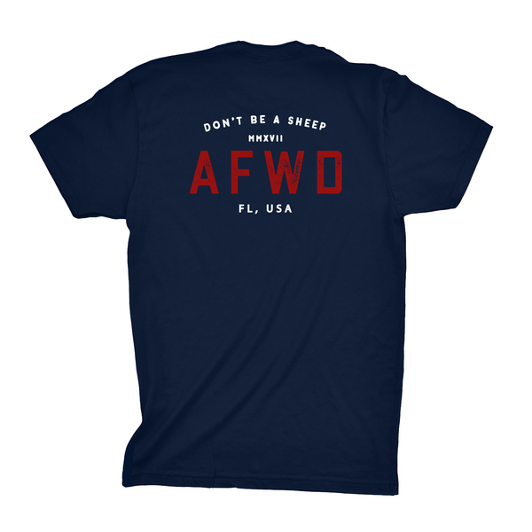 AFWD (Navy) - Cotton/Suede Tee