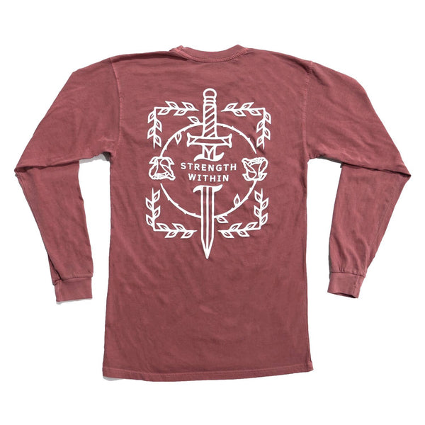 VINTAGE LONG SLEEVE - Strength Within (Brick)