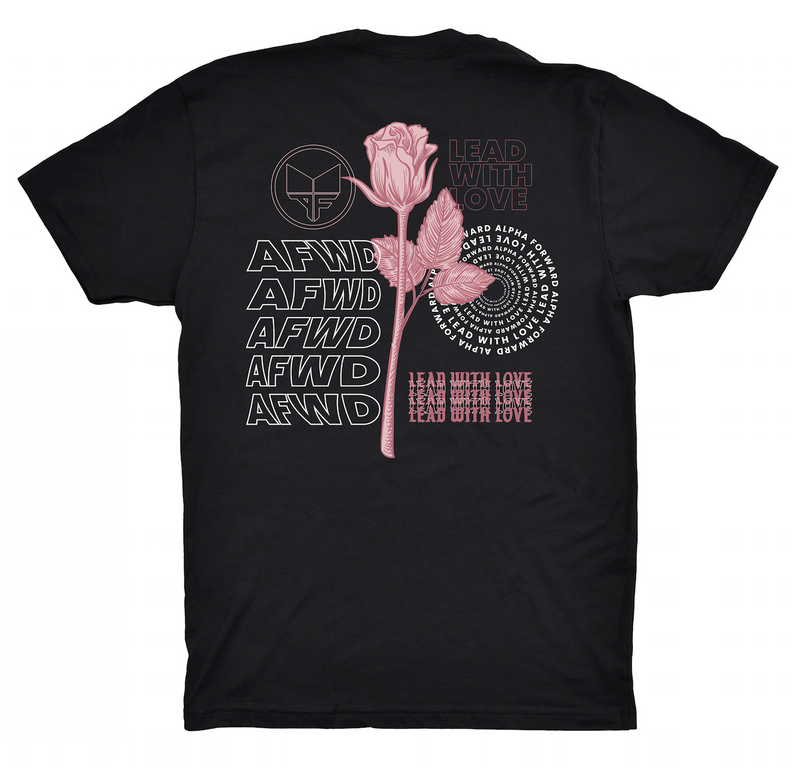 LEAD WITH LOVE TEE - Black/Pink