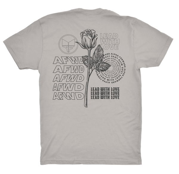 LEAD WITH LOVE TEE - Warm Grey