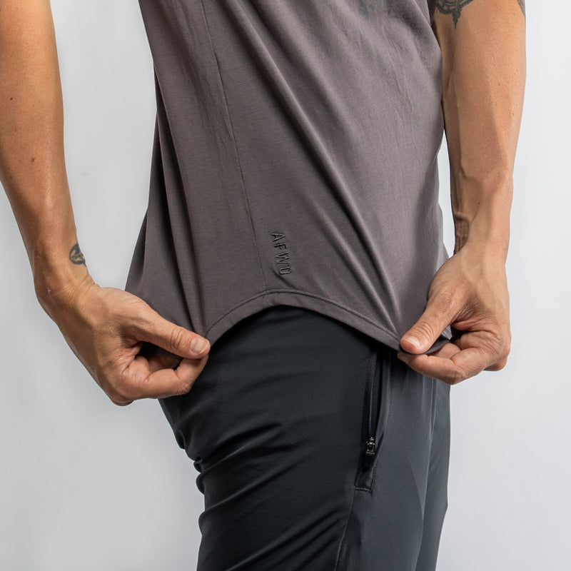 Pocket Scoop Tee- Charcoal