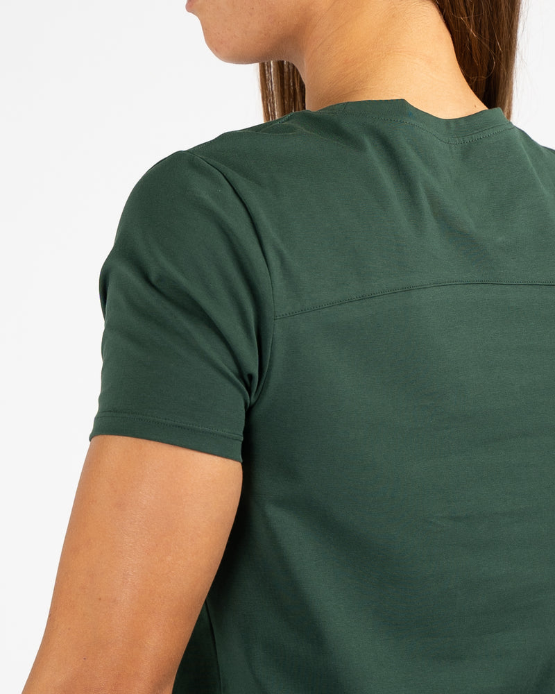Pocket Scoop Tee- Forest