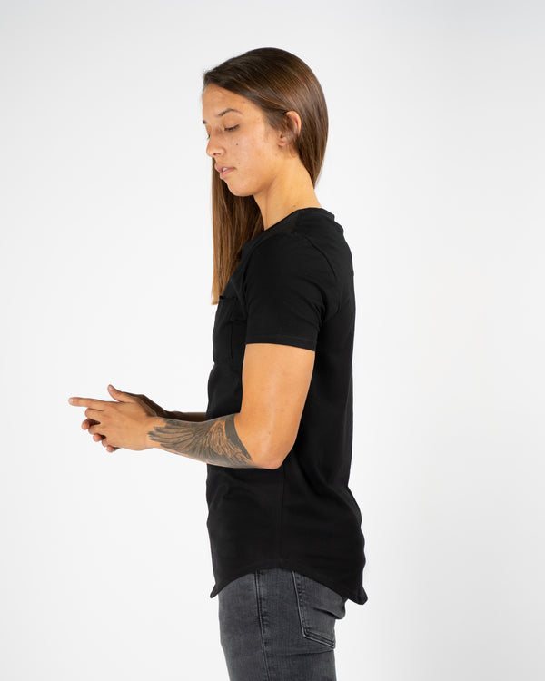 Pocket Scoop Tee- Black