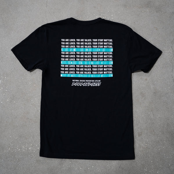 AFWD Suicide Prevention Tee - Black