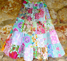 Load image into Gallery viewer, Custom listing for ladies Soul Vibration patchwork skirt