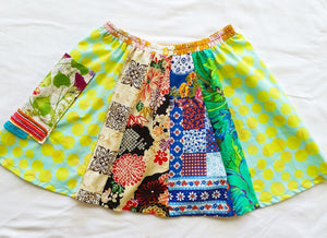 Size 5-6 Girls Soul Vibration patchwork skirts - Dots a-line