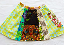 Load image into Gallery viewer, Size 5-6 Girls Soul Vibration patchwork skirts - Dots a-line