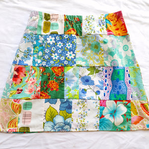 Ladies Soul Vibration Patchwork skirts - Blue/grey 10-12