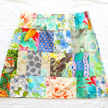 Load image into Gallery viewer, Ladies Soul Vibration Patchwork skirts - Blue/grey 10-12