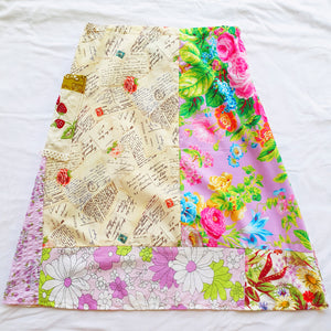 Custom listing for ladies Soul Vibration patchwork skirt