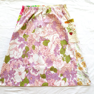 Ladies Soul Vibration Patchwork skirts - French postcards/Lilac Size 8-10