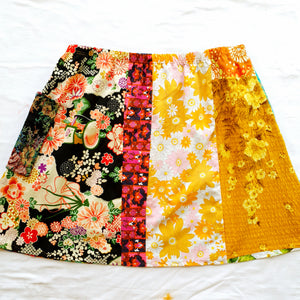 Ladies Soul Vibration Patchwork skirts - Oriental/blue Size 12-14