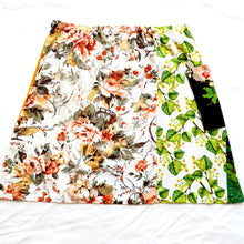 Load image into Gallery viewer, Ladies Soul Vibration Patchwork skirts - Black/green/autumn leaves Size 10-12