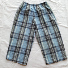 Load image into Gallery viewer, Patchwork shirt pants - Blue plaid back Size 2