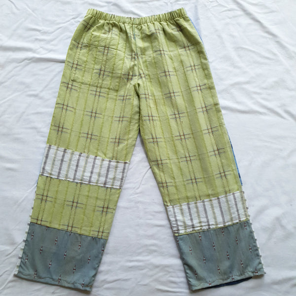 Patchwork shirt pants - Green woven back Size 6