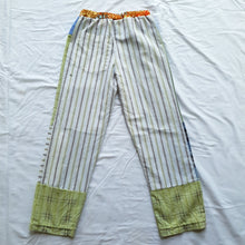 Load image into Gallery viewer, Patchwork shirt pants - White stripe back Size 7-8