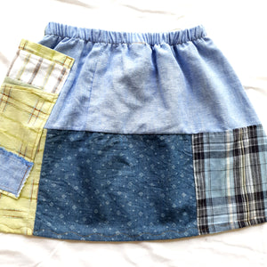 Size 4-5 Girls Soul Vibration patchwork skirts - Shirt patchwork