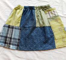 Load image into Gallery viewer, Size 4-5 Girls Soul Vibration patchwork skirts - Shirt patchwork