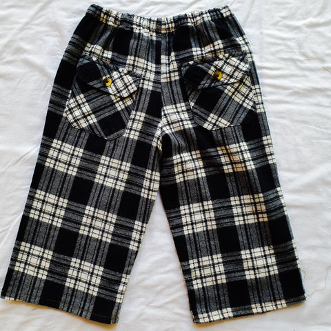 Upcycled shirt pants - Blue Flannel Size 1-2