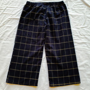 Upcycled shirt shorts - Blue Check Long shorts Size 8