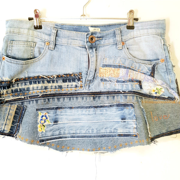 Ladies size 10 denim story skirt