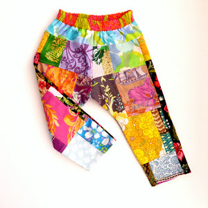 Upcycled patchwork toddler pants Size 1-2
