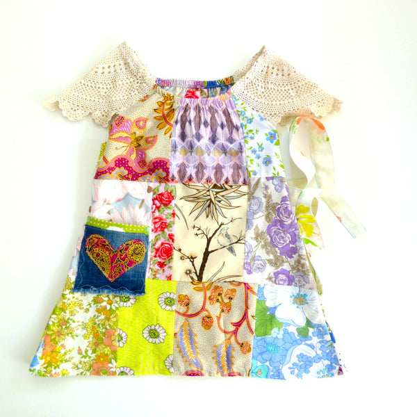 Patchwork 'Bohemian Rhapsody' Dress Size 5-6