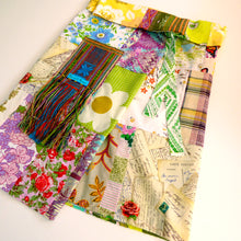 Load image into Gallery viewer, Upcycled vintage patchwork fisherman's wrap skirt
