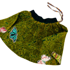 Butterflies on batik twirl skirt - Girls size 6