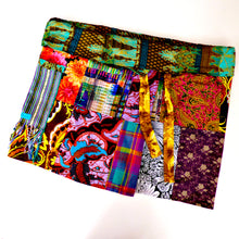 Load image into Gallery viewer, Tribal patchwork fisherman's wrap skirt
