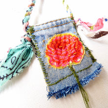 Load image into Gallery viewer, Amulet, crystal pouch, medicine bag
