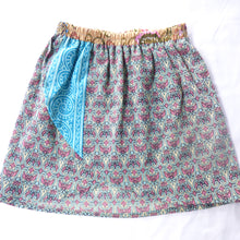 Load image into Gallery viewer, Size 2-4 upcycled bohemian skirt