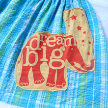 "Load image into Gallery viewer, Girls size 6-8 Seersucker ""Dream Big"" skirt"