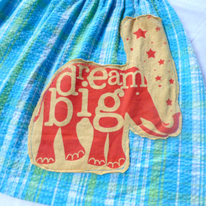 "Girls size 6-8 Seersucker ""Dream Big"" skirt"