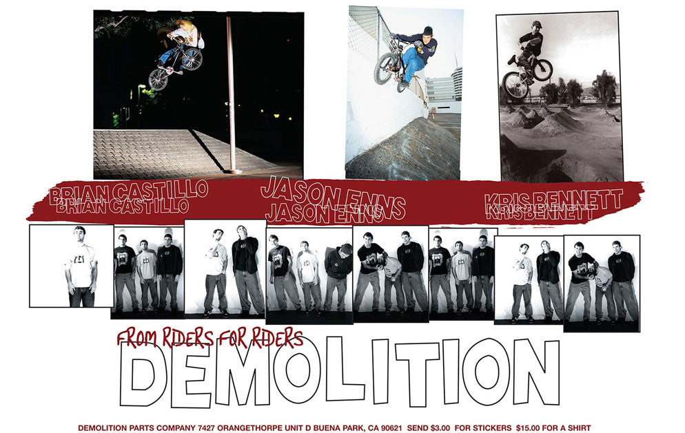 Demolition BMX and Volume Bikes
