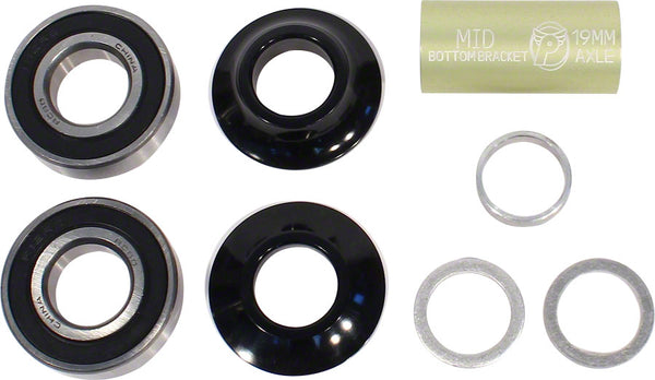 Profile Racing Mid Bottom Bracket Kit - 19mm (Black)