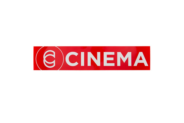 Cinema Ramp Sticker - Red