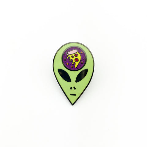 Alien Pizza Lapel Pin