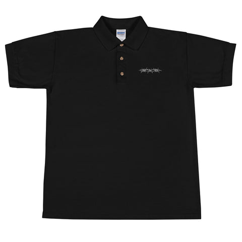 Barbed Black Embroidered Polo