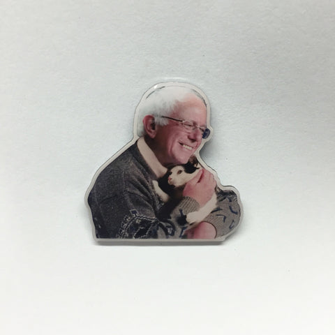 Bernie's Cat Lapel Pin