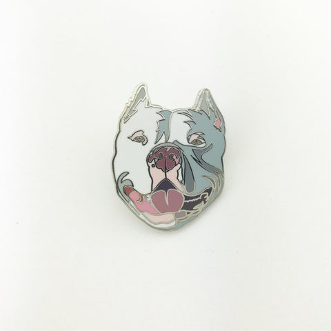 Blue-Grey Bully Lapel Pin