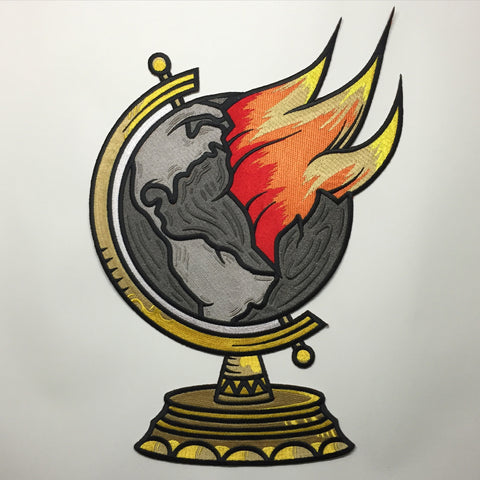 Burning Globe Back Patch
