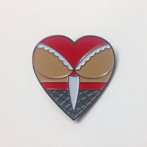 Butt Heart Lapel Pin