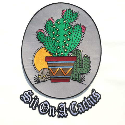 Cactus / Sit On A Cactus Back Patch Pack
