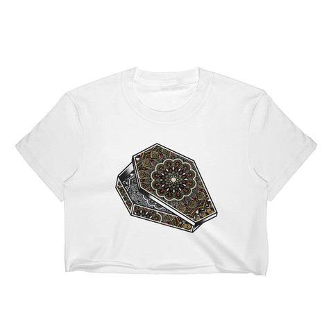 Mandala Coffin Crop Top