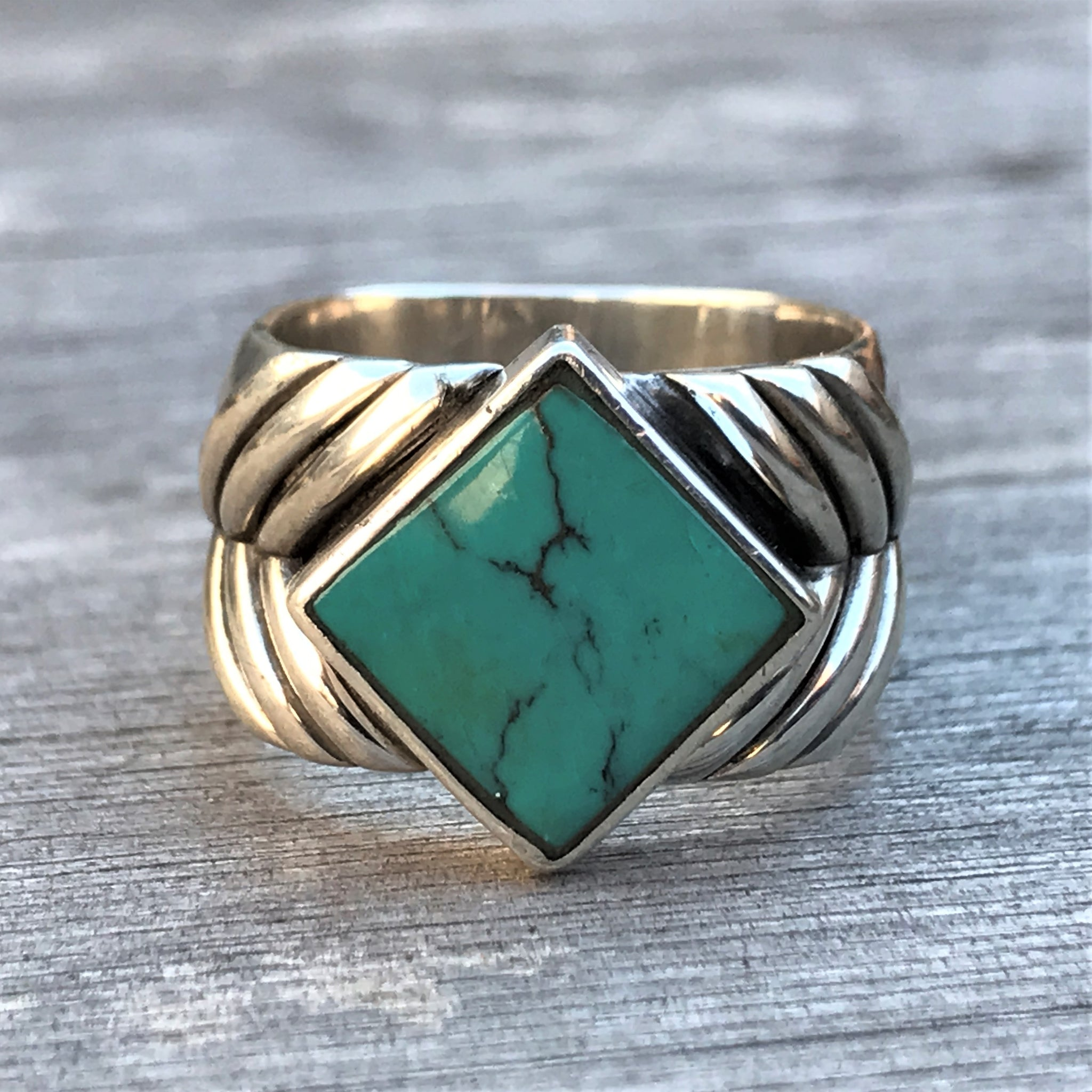 turquoise phoenix sterling new women chakra rings from thai products ashes the fashion original for ring fnj silver tibetan