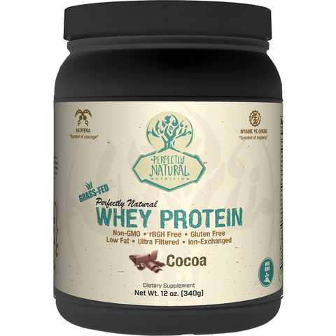 Perfectly Natural Grass-Fed Whey Protein - 1lb - Delicious & Healthy,Non-GMO, Gluten Free