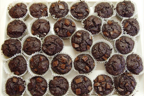Chocolate Protein Muffins  (Serves 12)