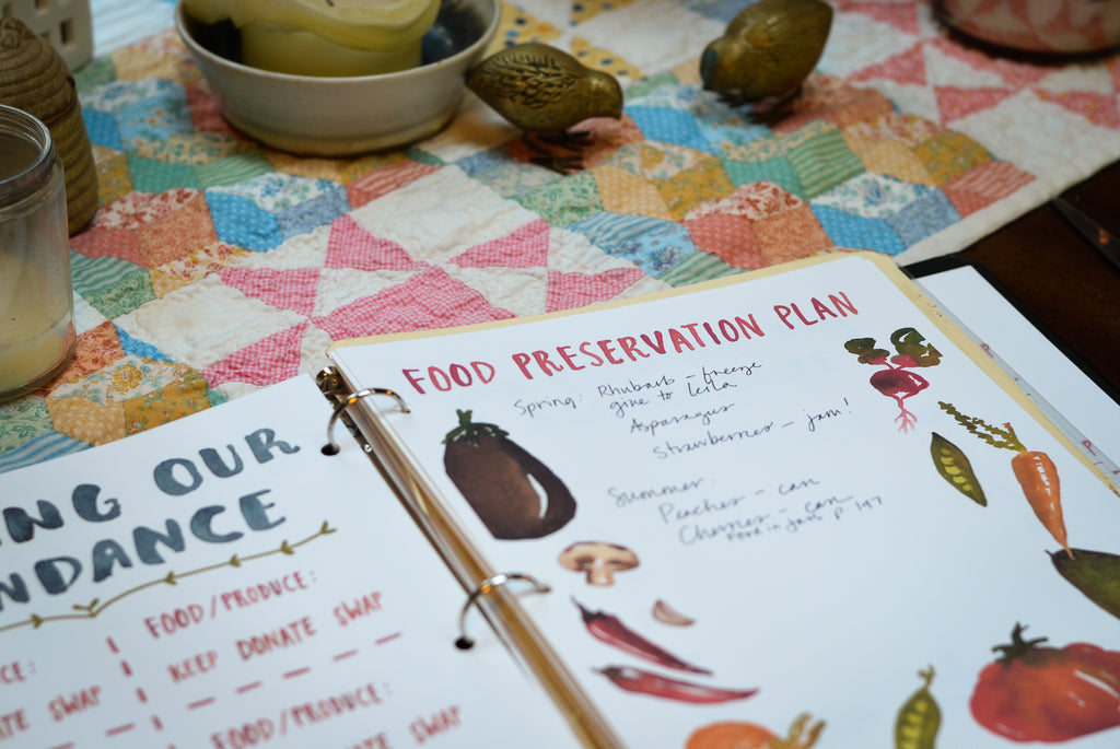garden journal pages food preservation plan