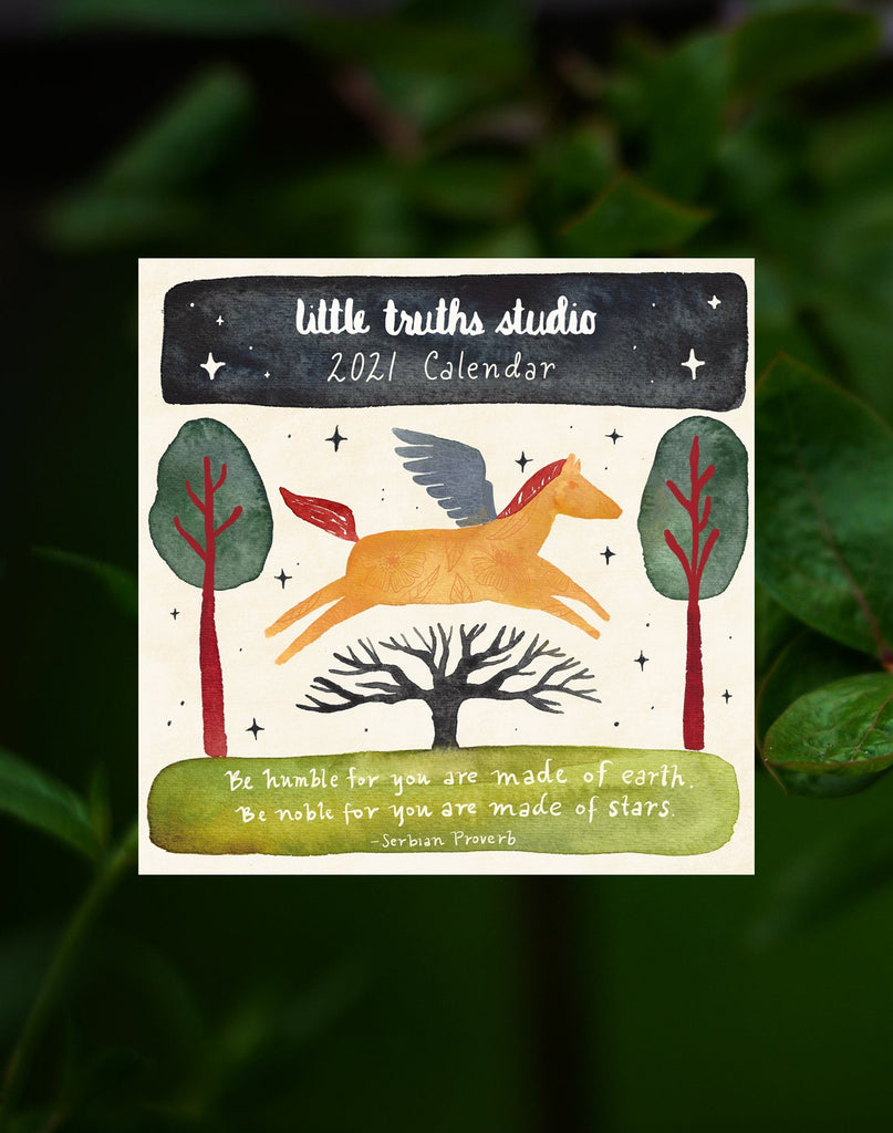 2021 Little Truths Studio Wall Calendar Little Truths Studio